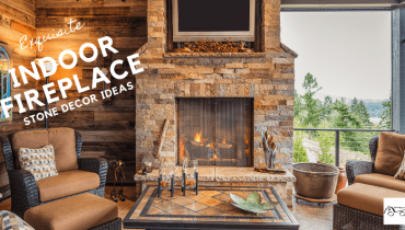 Exquisite Indoor Fireplace Stone Décor Ideas